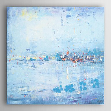 XGHC Hand Painted Oil Painting Abstract Coastal Celebrations with Stretched Frame 7 Wall Arts