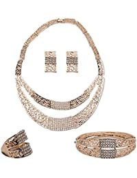 IGP Italian Two Layered Gold Plated Fashion Jewellery Set For Women And Girls With Ring And Bracelet