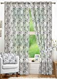 Nuhome Sheer Embroidery White Scroll Pol...