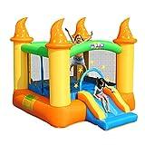 XGYUII Château Gonflable pour Enfants Toboggan Glissade d'eau Escalade Toboggan Sautant Trampoline Bouncer Maison Jouer Amusant Paddling Pool,Orange,279 * 236 * 213cm