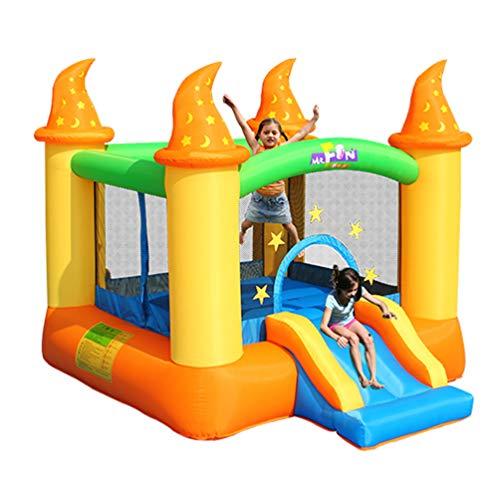 XGYUII Hüpfburg Für Kinder Rutsche Wasserrutsche Klettern Rutsche Springen Trampolin Türsteher Haus Spielen Spaß Planschbecken,Orange,279 * 236 * 213cm