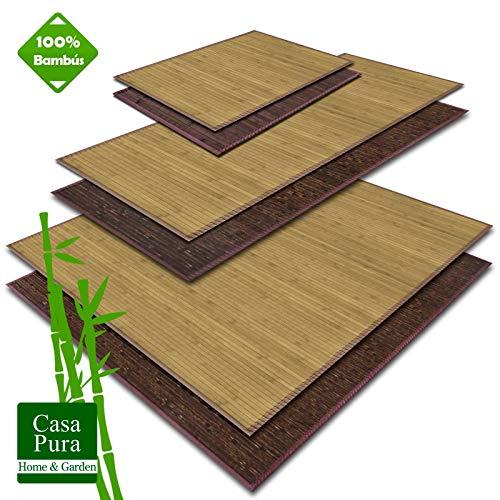 Casa pura Estera Bambú - Alfombra Madera Natural