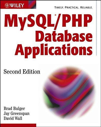 MySQL / PHP Database Applications 2nd edition by Bulger, Brad, Greenspan, Jay, Wall, David (2003) Paperback par Brad, Greenspan, Jay, Wall, David Bulger