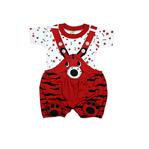 Kids Unisex Girls Boys Dungree Set with Half Sleeve Tshirt for Toddlers Babies