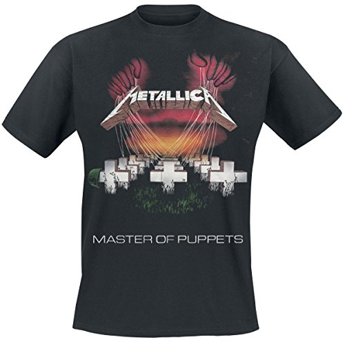 Metallica Master Of Puppets Tour 1986 Camiseta Negro