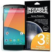 [NUOVO] INVISIBLE DEFENDER® Google Nexus 5 Pellicola Protezione Dello Schermo Screen Protector [3x PELLICOLA / Garanzia di Sostituzione a Vita] Più venduto premio estremamente protezione libera del mondo dello schermo per Google Nexus 5