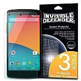 Ringke [Nuovo] Invisible Defender Google Nexus 5 Pellicola Protezione dello Schermo Screen Protector [3X Pellicola/Garanzia di Sostituzione a Vita] più Venduto Premio Estremamente Protezione Libera