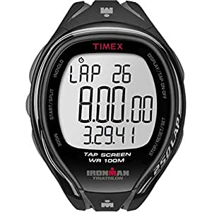 Timex - Homme - T5K588SU - Ironman Sleek 250 LAP - Bracelet Résine - Chronomètre - Mémoire de 150 circuits - Gris - Noir - Résine