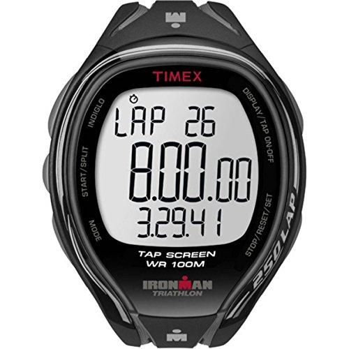 timex-homme-t5k588su-ironman-sleek-250-lap-bracelet-rsine-chronomtre-mmoire-de-150-circuits-gris-noi