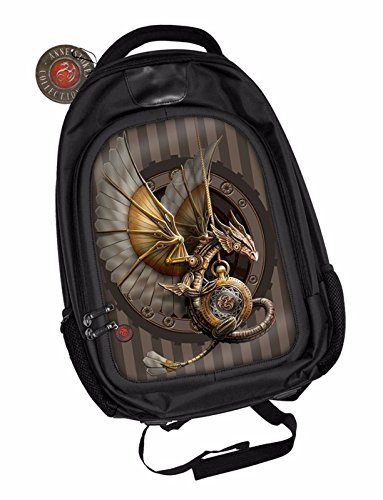 Anne-Stokes-Official-3D-Unisex-Backpack-Clockwork-Dragon-Gothic-Padded-Laptop