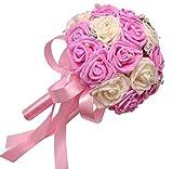 Kapmore Hochzeit blumenstrauss für Braut Bräute Romantische Rose Blumen halten