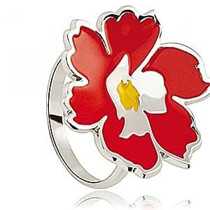 Bague Kenzo 70193561101 - Bague Email Fleur Rouge Femme