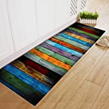 Xshuai® Dining Room Carpet Shaggy Soft Area Rug Bedroom Rectangle Floor Non-Slip Absorption Washabale Mat 40*120CM (C)