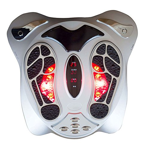 OMZBM Elektrische Fußmassagegerät Mit Wärmefunktion Niederfrequenz Elektrische Stimulation Multi-Level-Einstellungen Durchblutung Massage (Senden Massage Gürtel)