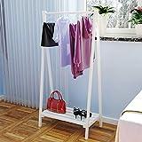 Panet Garderobe aus Massivem Holz, Einfacher Kleiderhaken, freistehende Garderobe