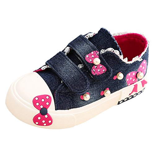 Scothen Kids Schuhe fürTurnschuhe Canvas Kinder Schuhe Denim Laufen Sport Baby Turnschuhe Mädchen Sneaker Leinenschuhe Segeltuchschuhe High Top Schuhe Laufen Sport Baby Turnschuhe Marine
