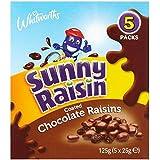 De Chocolate Soleado Pasas Revestidas 5 X 25 G (Paquete de 6)