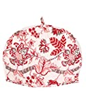 Off White & Pink Tea Cosy Cotton 15x11 T...