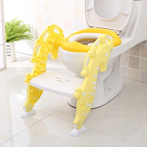 Bébé Enfant Toddler Potty Training Siège De Toilette Toilet Trainer Ring Fournitures De Salle De Bain Garçons Et Filles (Couleur : Jaune)
