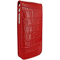 PIELFRAMA 689COR Magnetic Case Crocodile Apple iPhone 6 Plus in rot