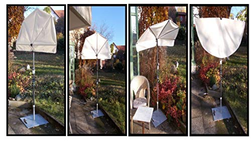 Sunbrella-sonnenschutz (Holly MARKISEN - ERGÄNZUNGS - FÄCHER - Sunbrellas Modell: Balcony - Polyster Natur hoher UV Schutz - Produktion Baden WÜRTTEMBERG - First - IT Fächerschirme Video -)