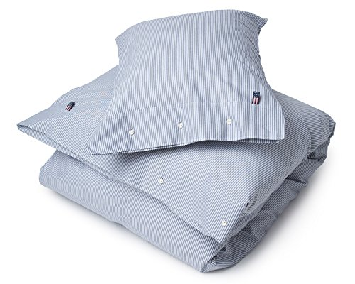 Lexington Oxford (Lexington Bettwäsche Authentic Pin Point Oxford Navy/Weiß (200x200 cm))
