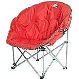Eurohike Deluxe Moon Stuhl im Freien Camping Zubehör, Rot, Einheitsgröße