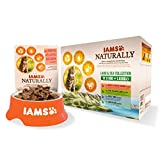IAMS Naturally Chat Adulte Humide Terre & Mer en Sauce 12x85 g
