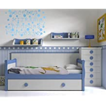 Vinilos decorativos de abecedario infantil 150x100 cms Azul Cielo