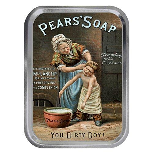 Pears' Soap You Dirty Boy! Vintage Advert 2oz Silver Tin Tobacco Storage