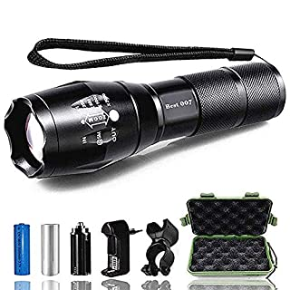 AUKELLY Best 007 LED Torch Flashlight XM-L T6 Adjustable Focus LED Flashlight White Beam Zoomable Flashlight High Power Torch