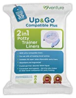 Potette Plus 100% Compatible Travel Potty Liner, EXTRA Super Saver Bonus, Get 35 Up & Go Travel Liners For The Price Of 30