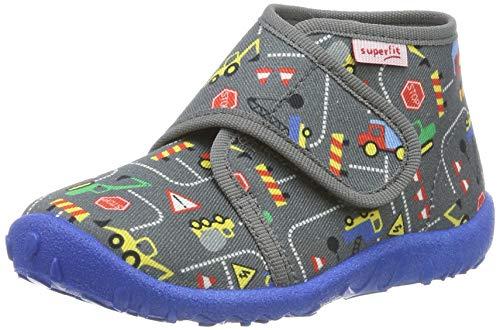 superfit Spotty, Pantofole a Collo Alto Bambino, Grigio (Grau 20), 25 EU