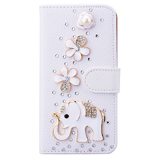 smart-legend-lederhlle-fr-iphone-7-plus-glitzer-ledertasche-bling-bling-strass-hlle-elefant-diamant-