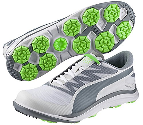 Puma da Uomo Biodrive Scarpe da Golf, Uomo, White/Tradewinds/Grey, M