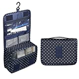 #3: Orpio Portable Travel Hanging Toiletry Bag for Men Shaving Kit & Women Make Up Bag Organizer with compartments
