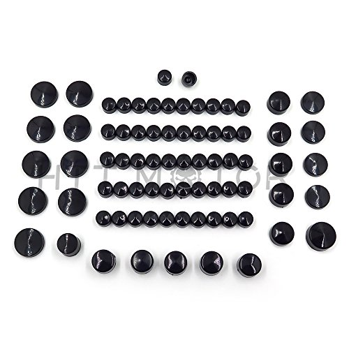 Httmt- 77 pièces Noir caches Coque kit pour 04-15 Harley Sportster Engine et Misc Écrou de boulon