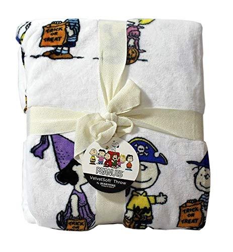 Berkshire Halloween Decke Peanuts Samt Weiche Plüschdecke (Snoopy Charaktere in Kostümen) (Charlie Browns Kostüm)
