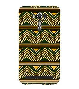 PrintVisa Designer Back Case Cover for Asus Zenfone 2 Laser ZE550KL (5.5 Inches) (Girly Pattern Tribal Floral Fabric Culture Rajastan Andhra)