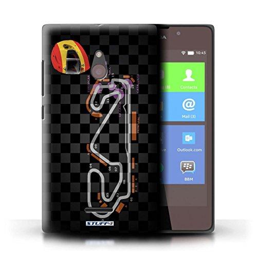 Kobalt® Imprimé Etui / Coque pour Nokia XL / Belgique/Spa conception / Série 2014 F1 Piste Espagne/Catalogne