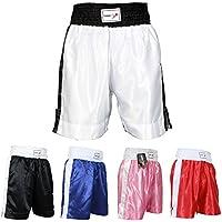 TurnerMAX - Pantalones Cortos para Boxeo tailandés, Kickboxing y Artes Marciales de la UFC en competición y Entrenamiento en Gimnasio, Talla Grande