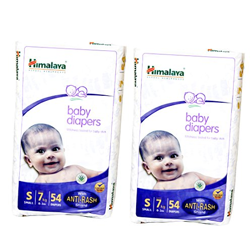 Himalaya Baby Small Size Diapers (54 Count) Pack of 2