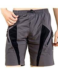 """SANTIC Mens Mountain Coolmax - Pantalón corto de ciclismo con almohadilla para hombre Talla:XL (34-36"""")"""