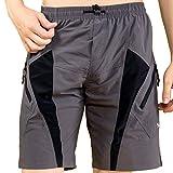 SANTIC Mens Mountain Coolmax - Pantalón corto de ciclismo con almohadilla para hombre Talla:M...