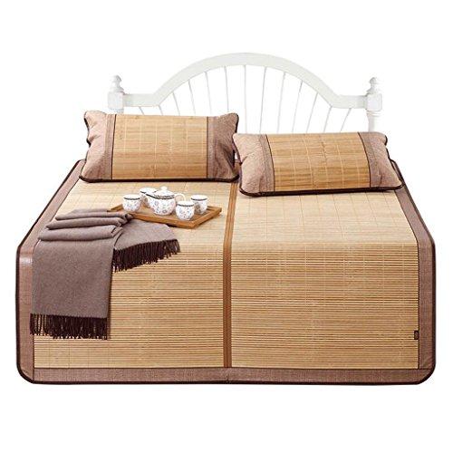 Liuyu · Tapis en bambou épais mat Tapis en bambou double face 1.2 Tapis pliant 1.8m lit 1.5 mètres Carbonisation en dortoir n'est pas teint lisse sans bavures Tapis en bambou épais