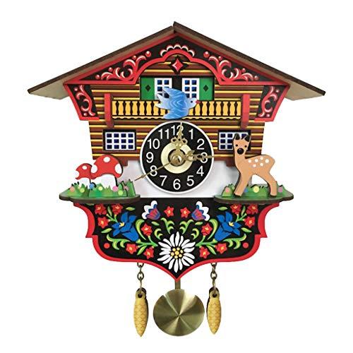 98d956e9d B Blesiya Reloj de Pared de Cuco con Péndulo de Madera Antiguo.