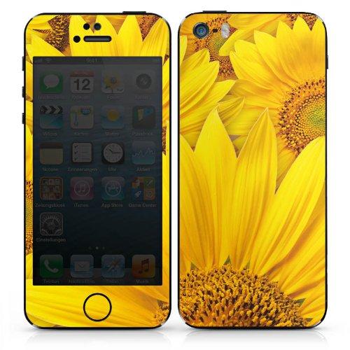 Apple iPhone 6 Case Skin Sticker aus Vinyl-Folie Aufkleber Sonnenblumen Blüte Gelb DesignSkins® glänzend