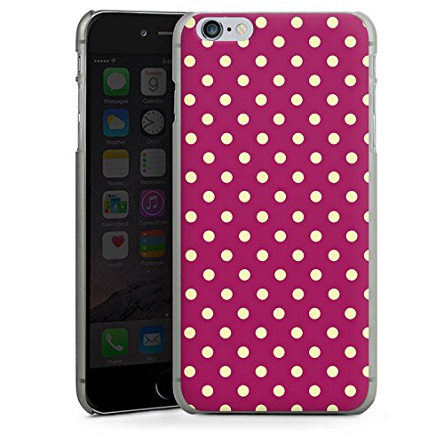 Apple iPhone X Silikon Hülle Case Schutzhülle Punkte Muster Polka Hard Case anthrazit-klar