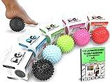 Professionelle Massagebälle - Lacrosse Ballset or Igel-Massageball - BESTE Fußmassage – Tiefengewebsmassage