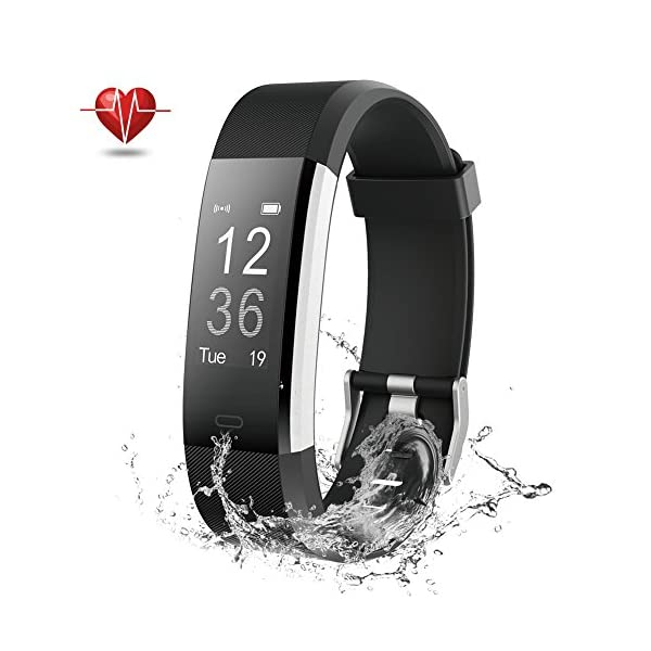 NOVETE Fitness Tracker Pedometer Sports Activity Tracker BraceletIP67 Waterproof Wireless Smart Wristband Smart Watch Witch Heart Rate Monitorsleep Monitor For Android And IOS